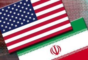 العلم الإيراني والأميركي
