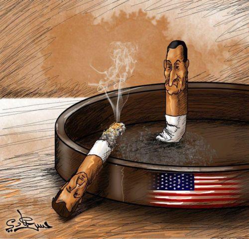 كاريكاتير بشار وأميركا
