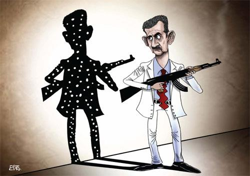 كاريكاتير بشار الأسد