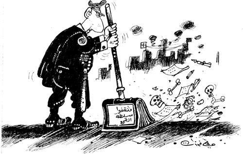 كاريكاتير علي فرزات - أبواق النظام الأسدي