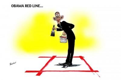 كاريكاتير عن أوباما