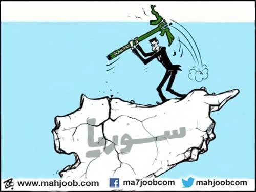 كاريكاتير بشار وحزب الله