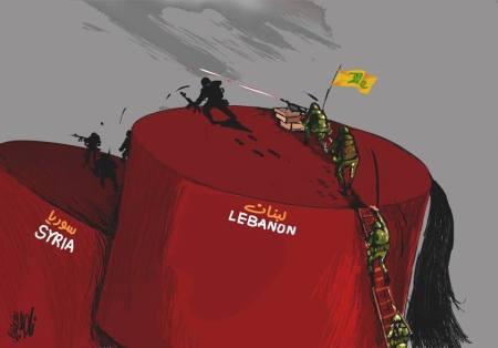كاريكاتير حزب الله ولبنان