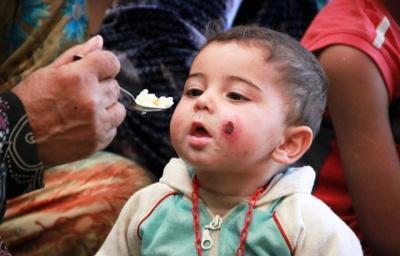 طفل لاجئ