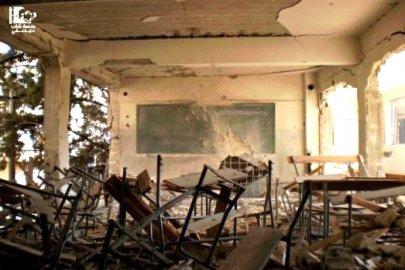 قصف مدارس