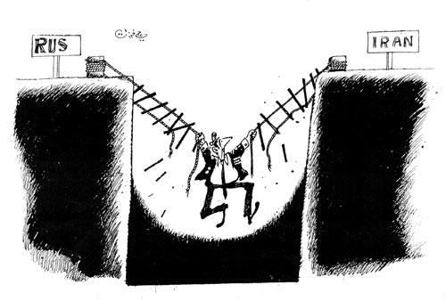 كاريكاتير إيران وروسيا