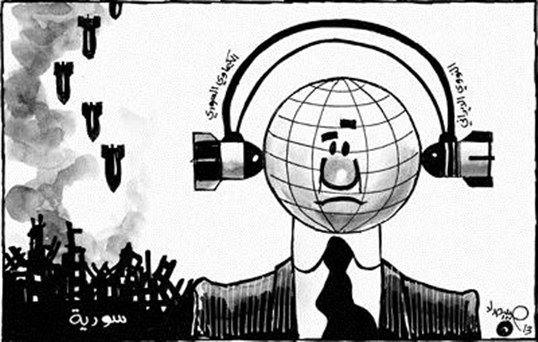 كاريكاتير الأسلحة والدول