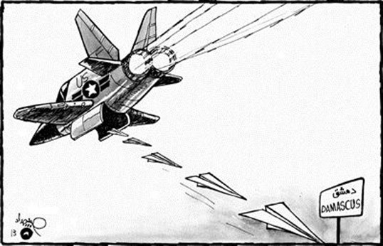 كاريكاتير الضربة العسكرية