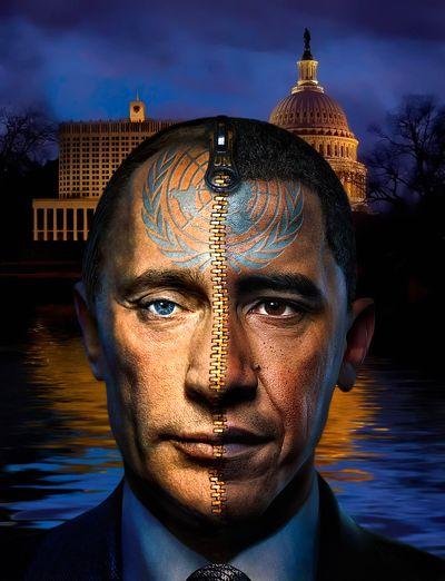 كاريكاتير باراك أوباما . فلاديمير بوتين2