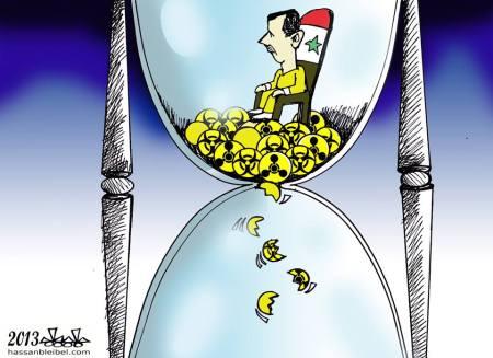 كاريكاتير بشار الكيميائي
