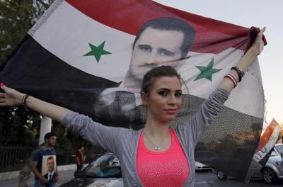 مؤيدة للأسد في دمشق...