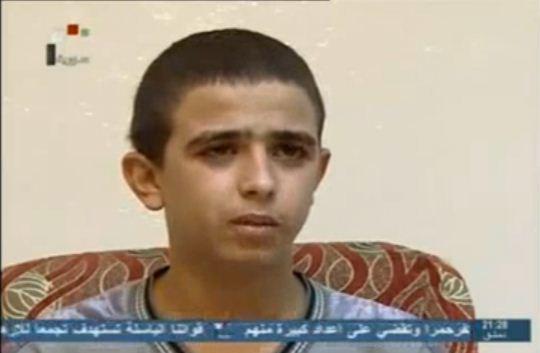 الطفل شعبان عبد الله حميدة على شاشة النظام