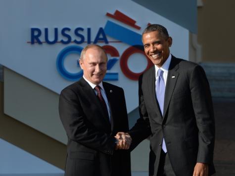 باراك أوباما وفلاديمير بوتين قبيل آخر اجتماع لهما في سان بطرسبرغ يوم 5 سبتمبر/أيلول الماضي