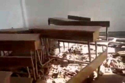 قصف مدارس سورية