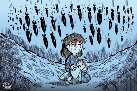 كاريكاتير أطفال سوريا