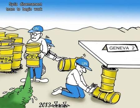 كاريكاتير جنيف والكيميائي