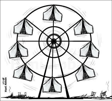 كاريكاتير لاجئين سوريين