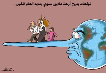 كاريكاتير لاجئين والدول