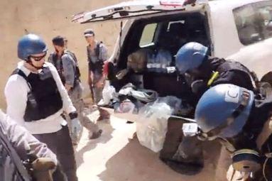 مفتشو الكيميائية خلال مهماتهم في سوريا