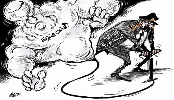 كاريكاتير النظام والجماعات المتطرفة
