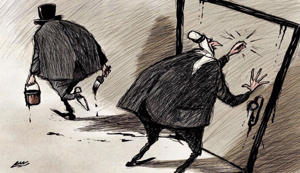 كاريكاتير عن العرب والغرب