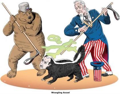 كاريكاتير أميركا وروسيا