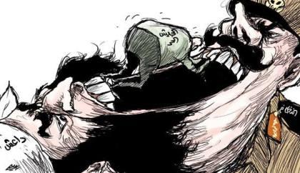 كاريكاتير الجيش السوري الحر والنظام وداعش