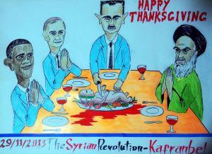 كاريكاتير بشار وإيران وروسيا وأميركا
