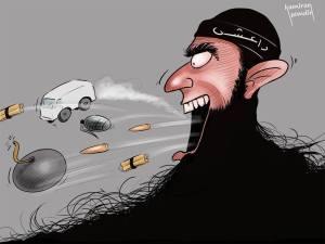 كاريكاتير داعش