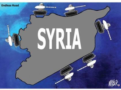 كاريكاتير سوريا والسلاح